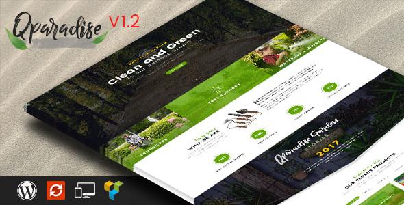 QParadise - Gardening and Landscaping WordPress Theme