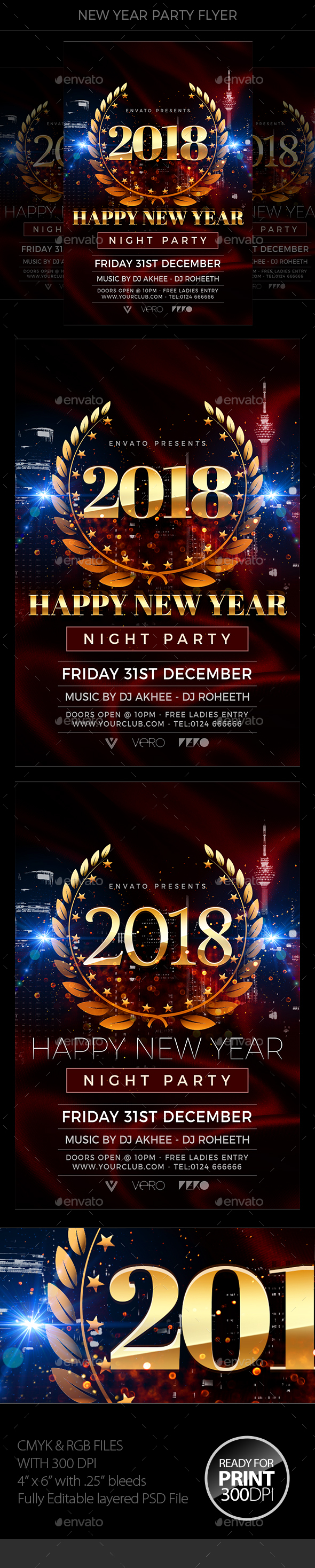 GraphicRiver New Year Flyer 20977515