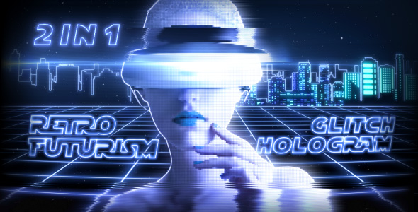 VideoHive Retro Futurism & Glitch Hologram 2 in 1 20977524
