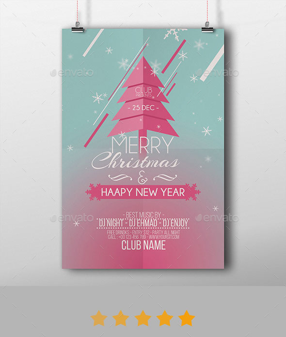 GraphicRiver Merry Christmas & Happy New Year Flyer 20977566