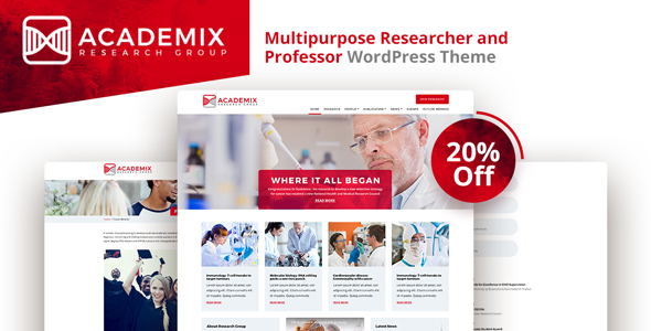 Download Academix - Multipurpose Researcher and Professor WordPress Theme            nulled nulled version