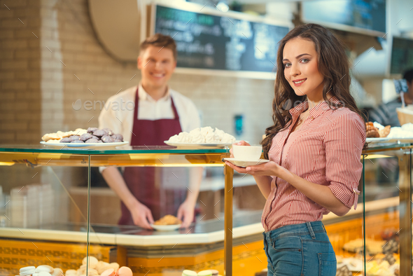 Woman in shop - Stock Photo - Images