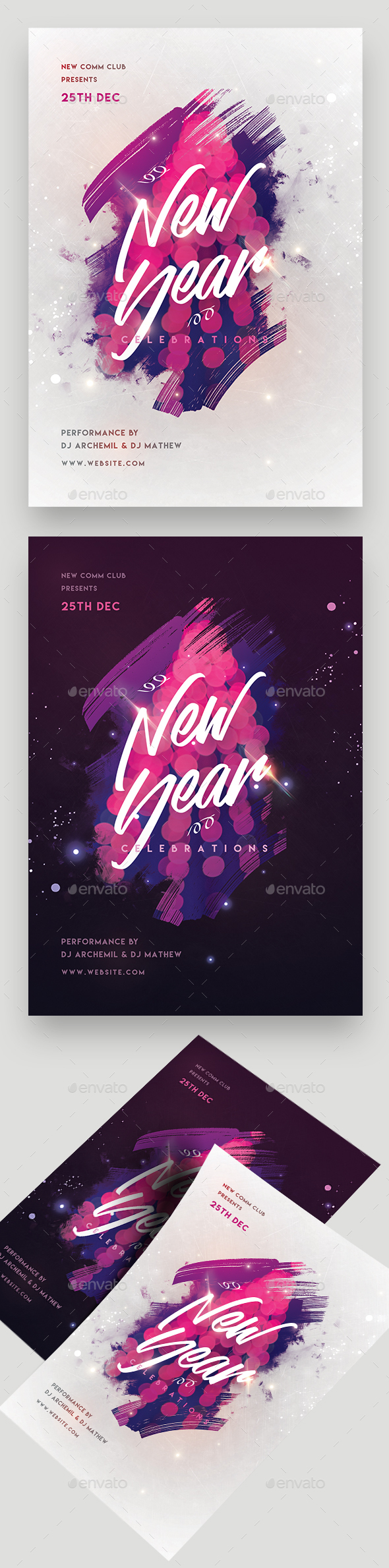 GraphicRiver New Year Party Flyer 20977865