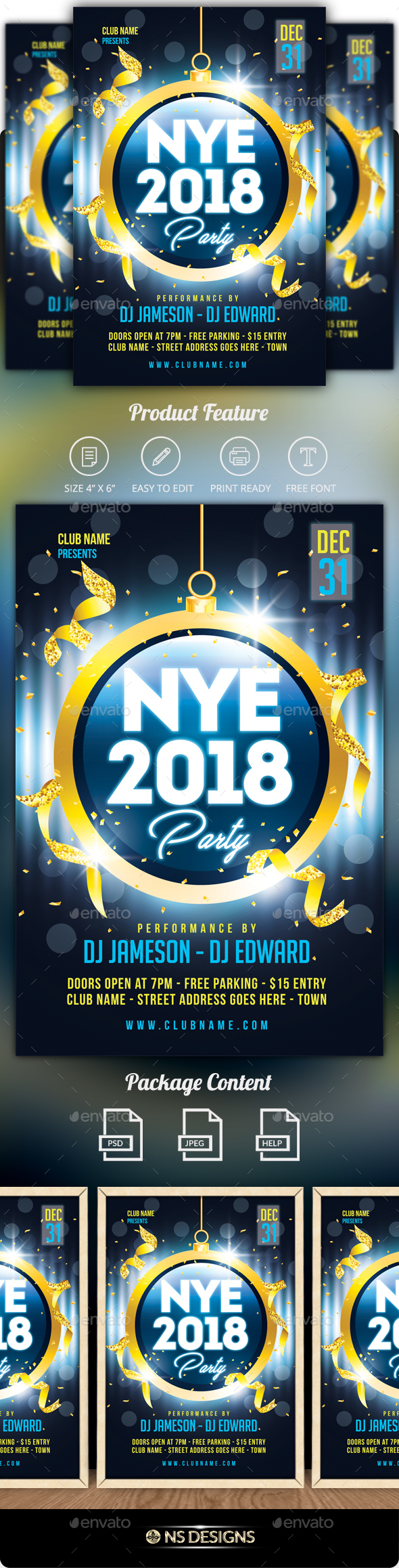 GraphicRiver NYE Party Flyer 20977900