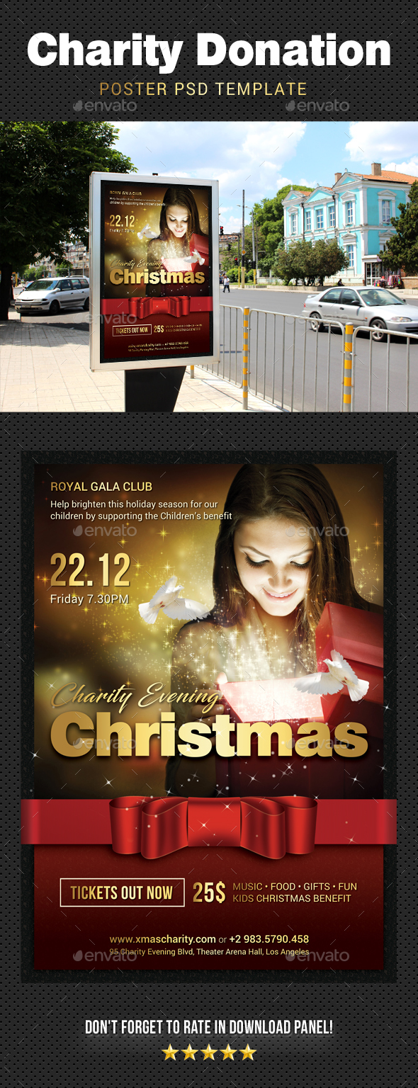 GraphicRiver Christmas Charity Donation Poster 20977910