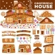 Christmas Gingerbread House Constructor Cartoon - GraphicRiver Item for Sale