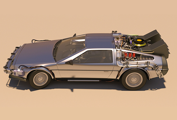 DMC Delorean Back to the Future part 1 - 3DOcean Item for Sale