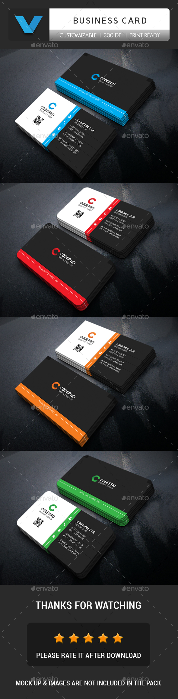 GraphicRiver Corporate Business Card 20978620