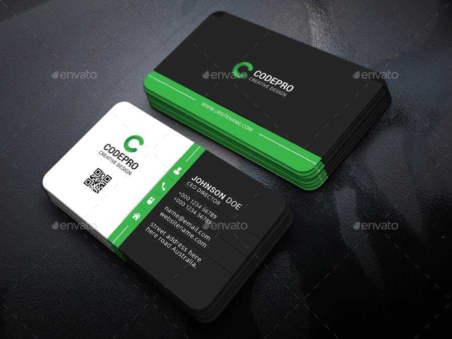 Corporate Business Card by vazon | GraphicRiver