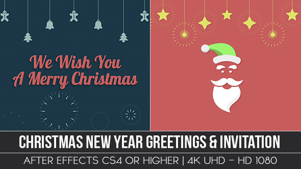 Christmas new year greeting invitation by ouss videohive play preview video m4hsunfo