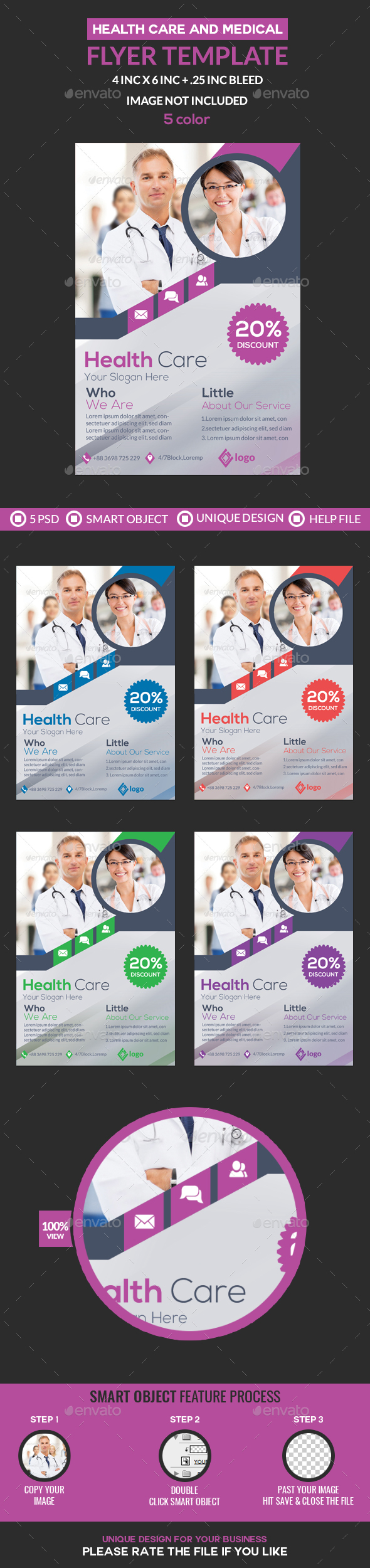 GraphicRiver Health Care Medical Flyer Template 20978988