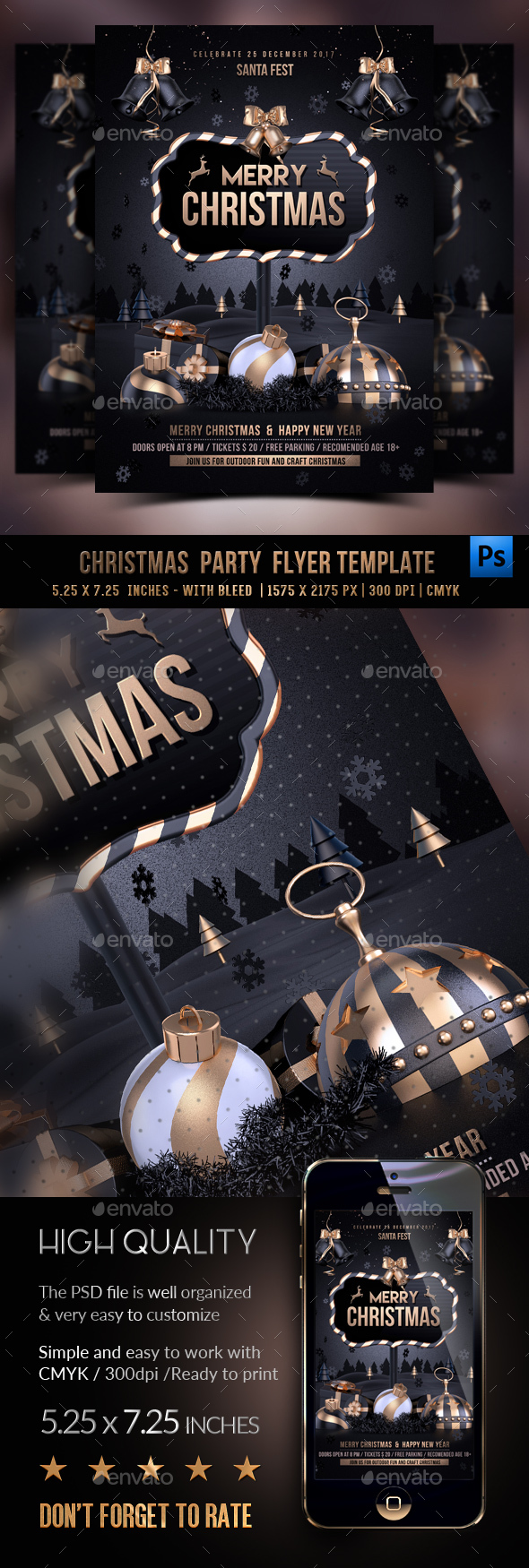 GraphicRiver Christmas Party Flyer Template 20979111