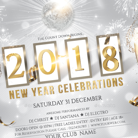 New Year Party Flyer by creativevalues | GraphicRiver