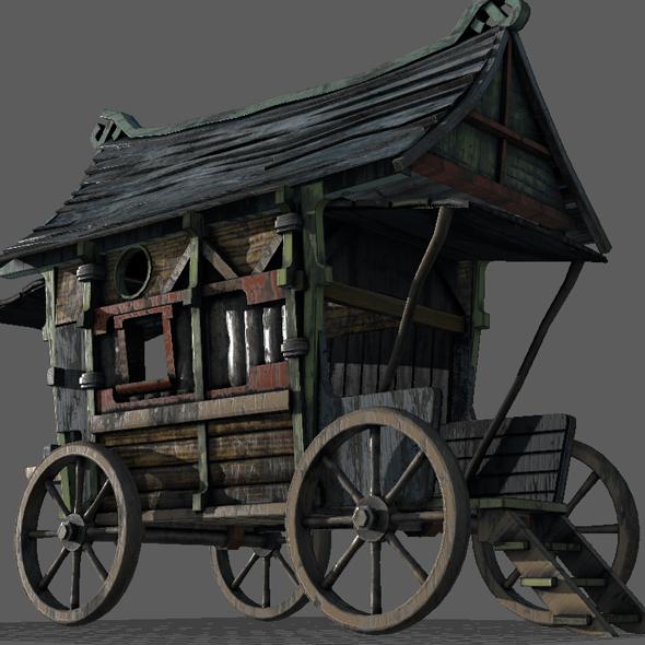 Fancy Medieval Caravan By Indrapermanahadi 3docean