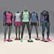 Female mannequin Nike pack 1 3D model