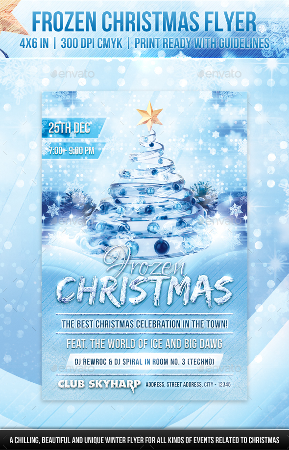 Frozen Christmas Flyer - Holidays Events