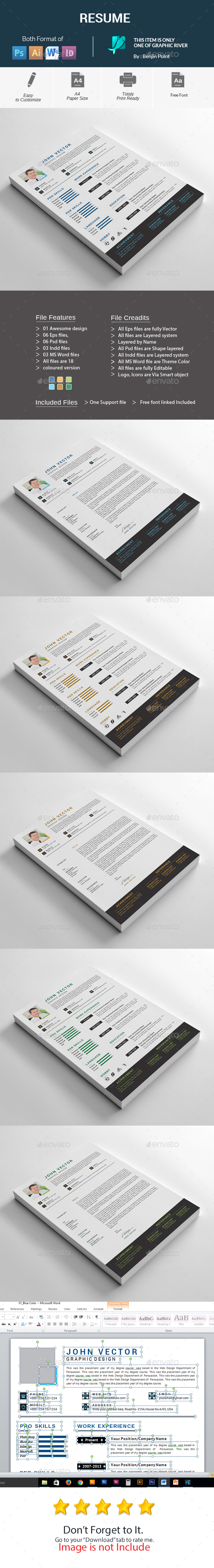 GraphicRiver Resume 20979386