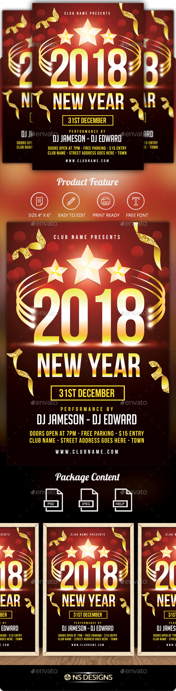 GraphicRiver New Year Flyer 20979400