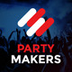 Party Makers - Music Event / Festival / DJ Party Responsive Muse Template