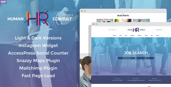 HR Human Consult - Human Resources & Recruiting WordPress Theme - Business Corporate