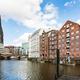 waterfront of Nikolaifleet canal in Hamburg city - PhotoDune Item for Sale