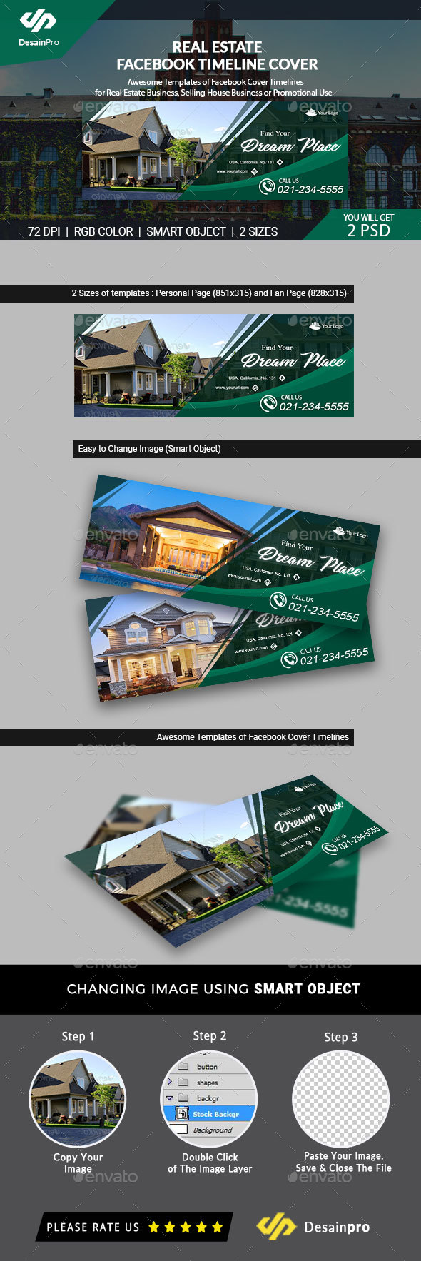 Real Estate Facebook Cover Template (AR) - Facebook Timeline Covers Social Media