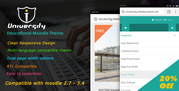 Download University - Responsive Moodle Theme            nulled nulled version