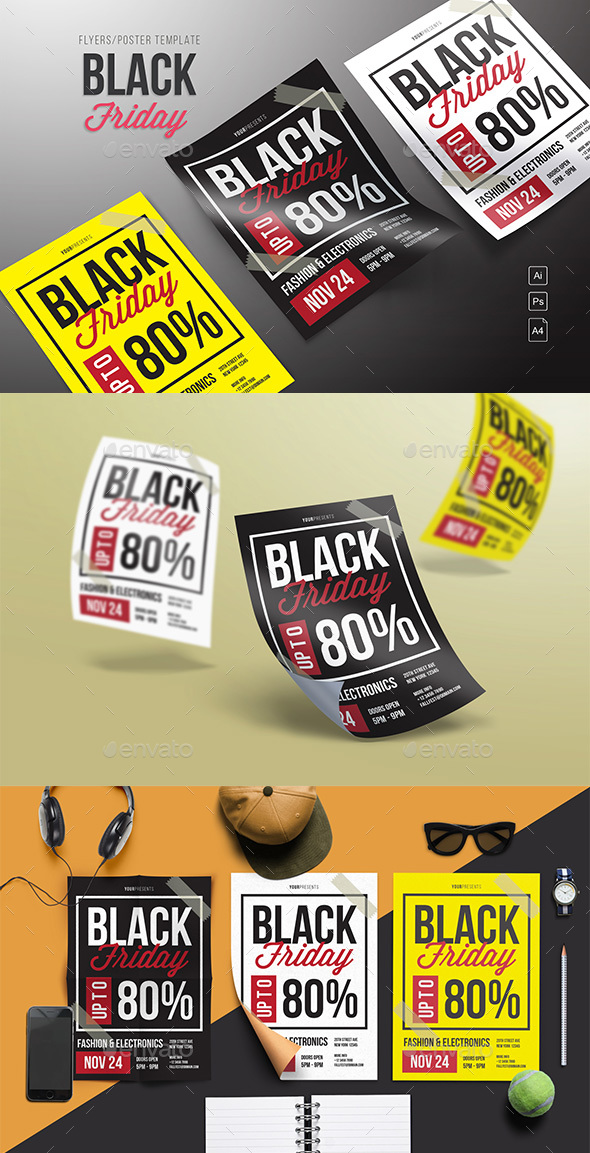 GraphicRiver Black Friday Sale Flyer 20979620