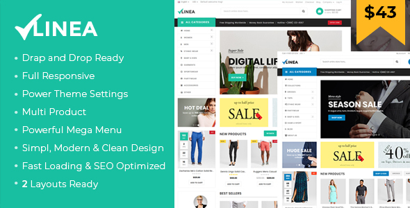 Linea - Clothing Store Shopify Theme (Sections Drag & Drop Ready) - Shopify eCommerce