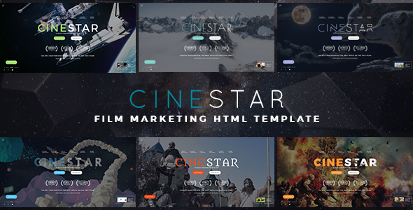 CINESTAR - Film Marketing Responsive Template