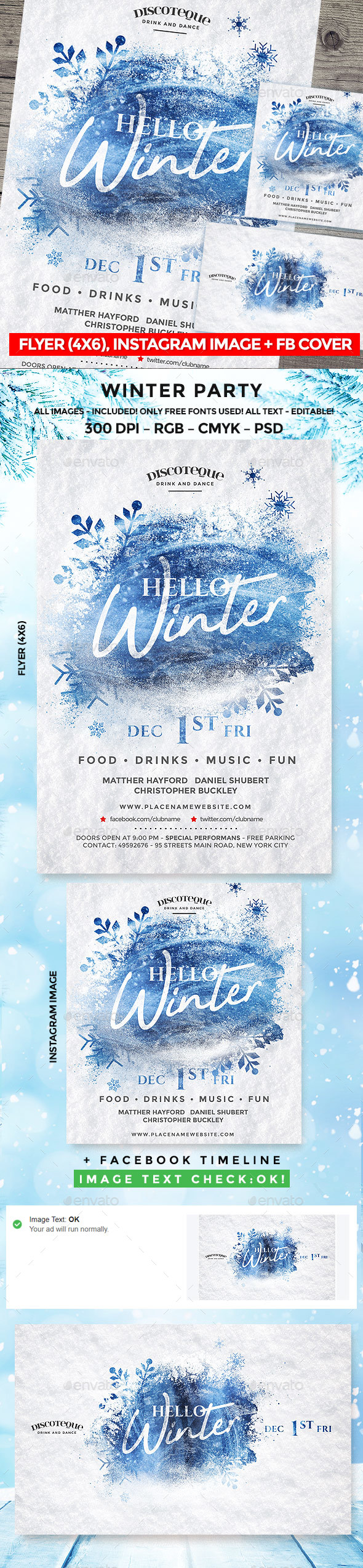GraphicRiver Winter Party 20979634