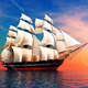 Ship Sailing Calm Outdoor Ambience Loop