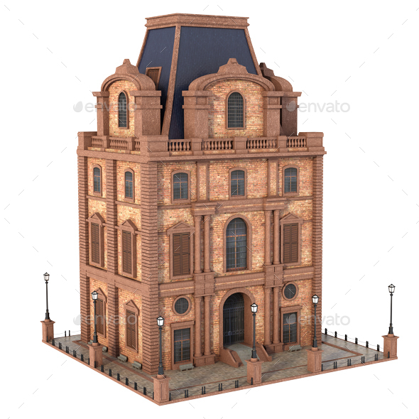 GraphicRiver Small Classic Building 20979743