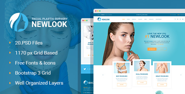 NewLook - Plastic Surgery Clinic PSD Template