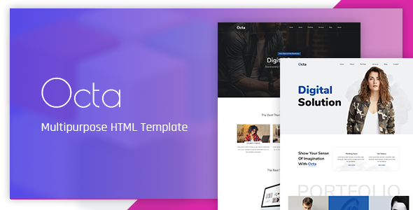 ThemeForest Octa Multipurpose HTML Template 20891153