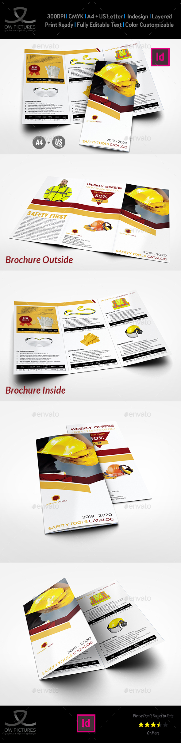 GraphicRiver Safety Tools Catalog Tri-Fold Brochure Template 20979945