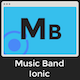 Music Band Ionic 3 - Full Application