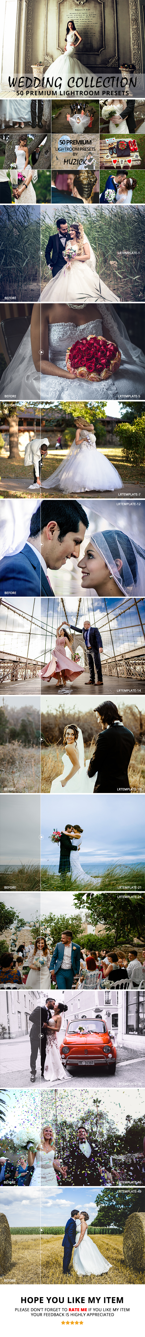 GraphicRiver 50 Premium Wedding Lightroom Presets 20979991