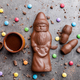 Delicious Christmas chocolate and sweets on rustic background - PhotoDune Item for Sale