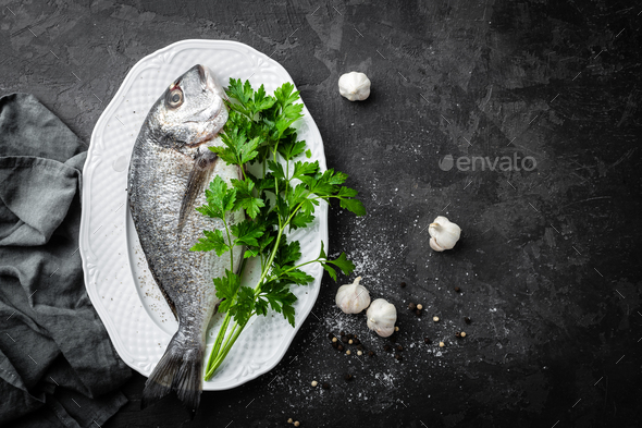 Raw fish - Stock Photo - Images
