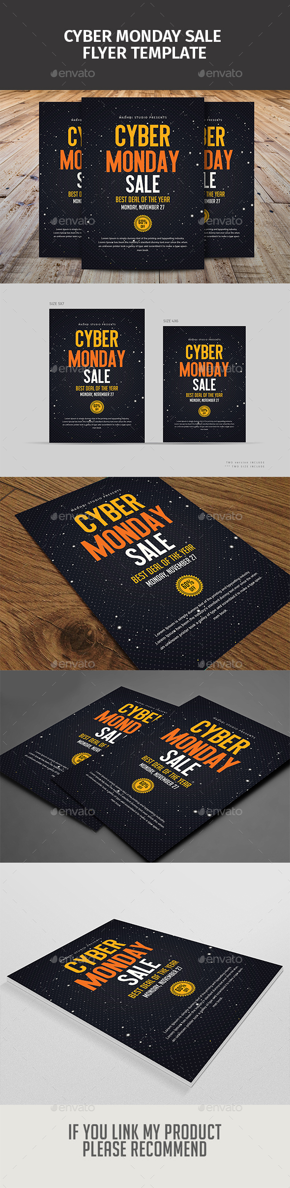 GraphicRiver Cyber Monday Sale Flyer Template 20980147