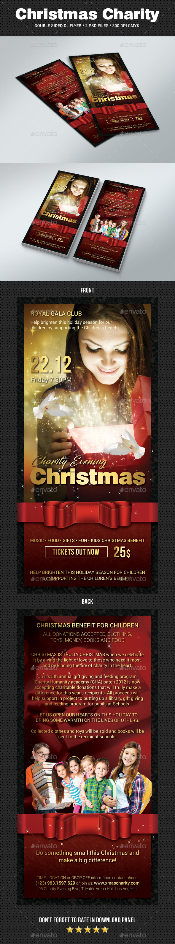 GraphicRiver DL Christmas Charity Flyer 20980164