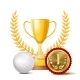 Golf Achievement Award Vector