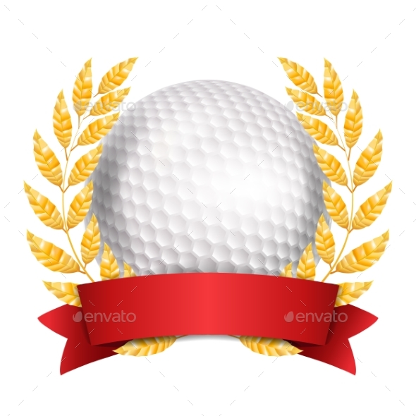 Golf Award Vector - Sports/Activity Conceptual