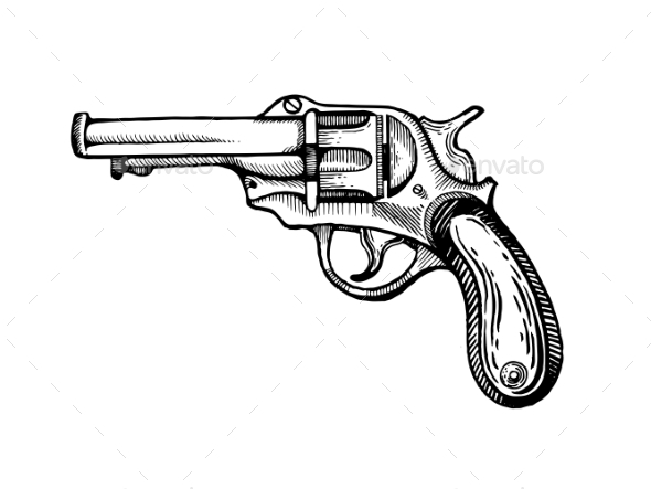 GraphicRiver Vintage Revolver Pop Art Vector Illustration 20980342
