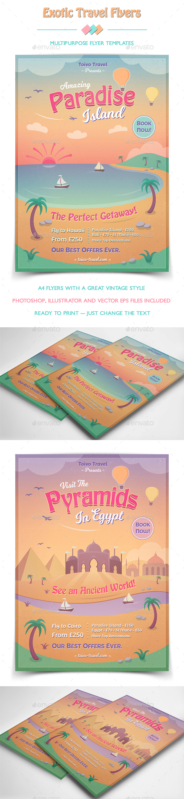 Exotic Travel Flyers - Flyers Print Templates