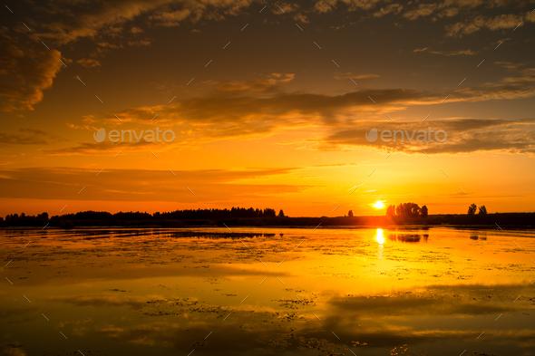 Amazing sunset - Stock Photo - Images