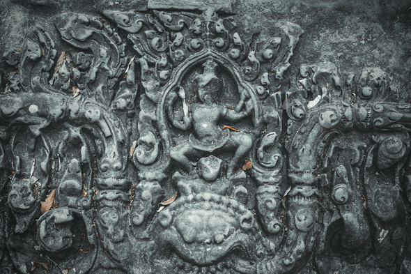 Ancient sculpture on wall - Stock Photo - Images