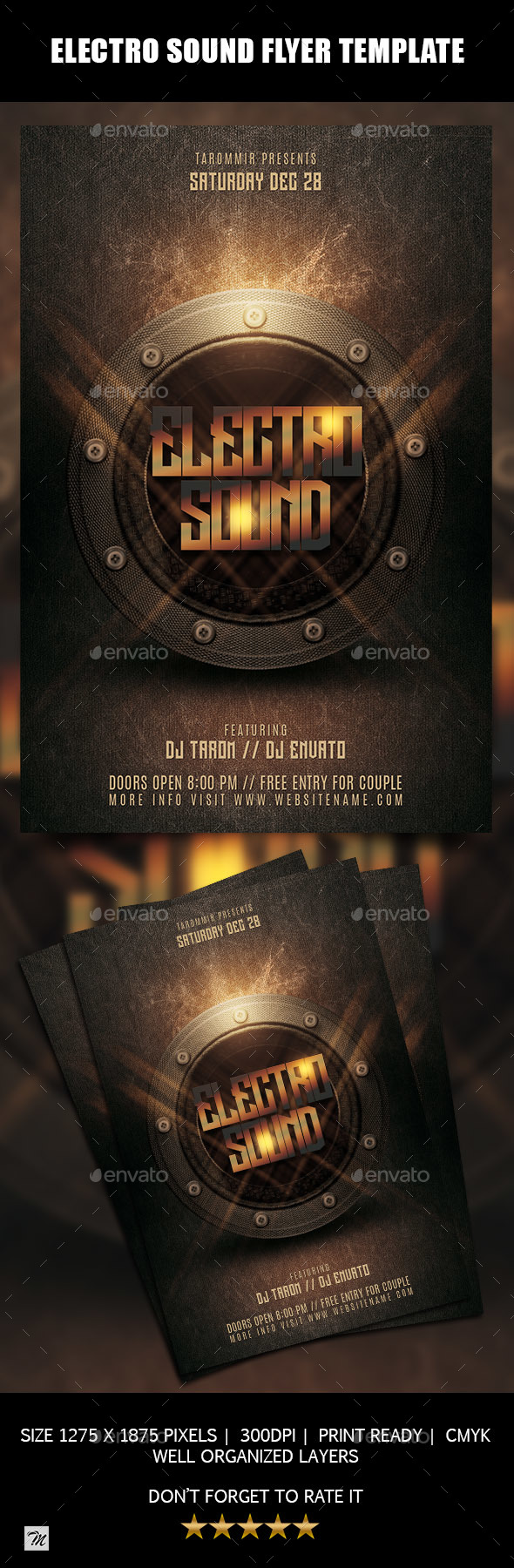 GraphicRiver Electro Sound Flyer Template 20980485