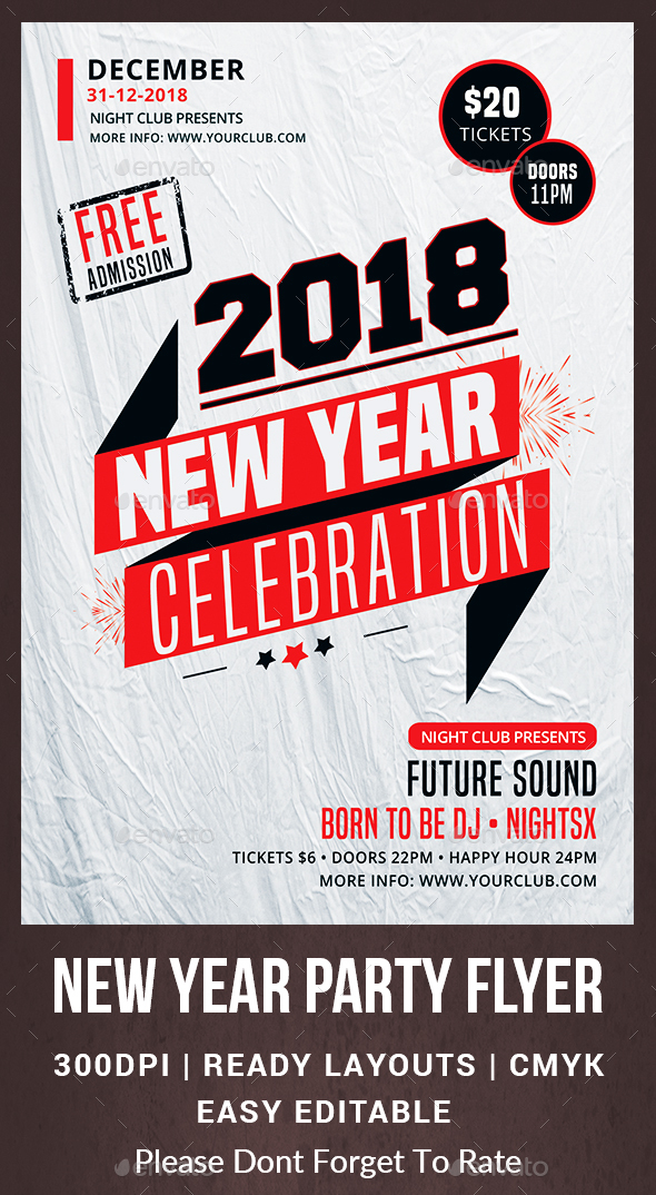 GraphicRiver New Year Party Flyer 20980630